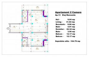 Apartament 2 camere, Otopeni