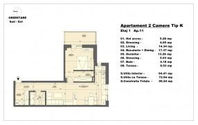 Apartament 2 camere, Herastrau