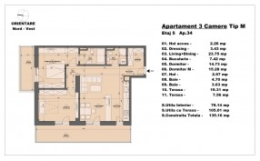 Apartament 3 camere, Herastrau