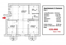 Apartament 3 camere, Parcul Carol