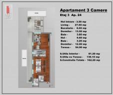 Apartament 3 camere, Stefan cel Mare