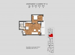 Apartament 2 camere, 13 Septembrie