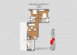 Apartament 3 camere, 13 Septembrie