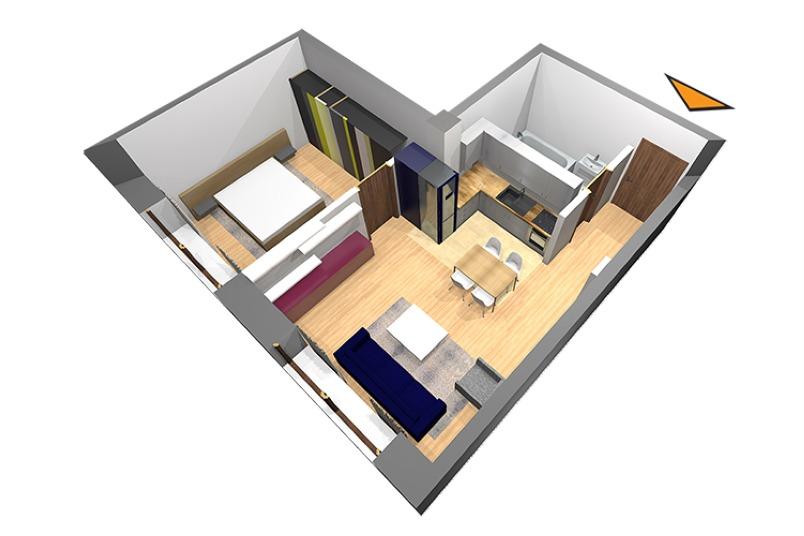 Apartamente 2 camere, 47 mp, Nr. E 2.02, Popa Nan 21