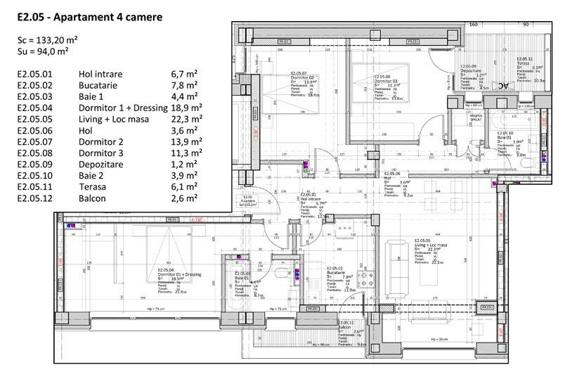 Apartamente 4 camere, 94 mp, Nr. E 2.05, Popa Nan 21