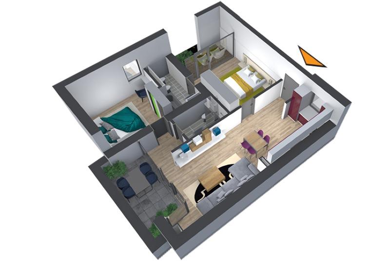 Apartamente 3 camere, 74 mp, Nr. E 4.10, Popa Nan 21