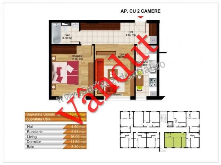 Apartamente 2 camere, 42 mp, Kristal Residence Berceni