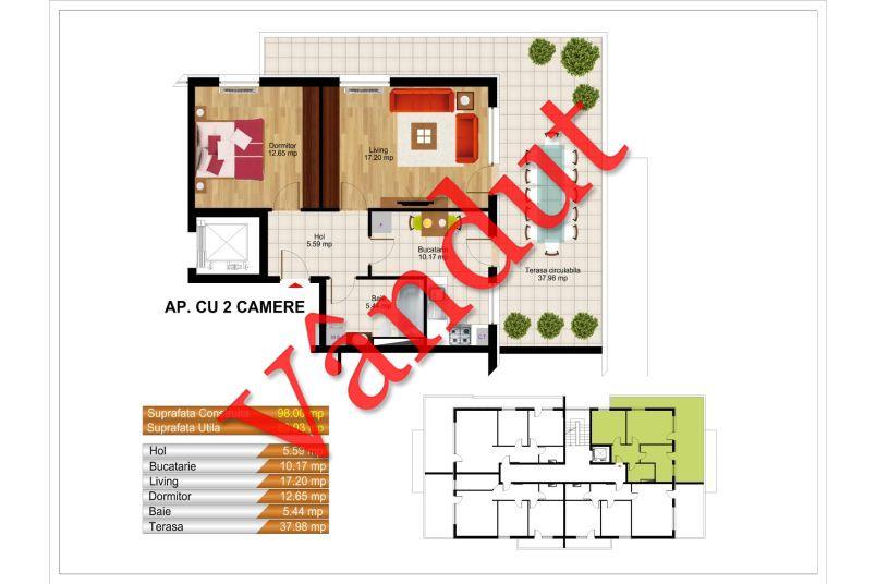 Apartamente 2 camere, 89 mp, Kristal Residence Berceni