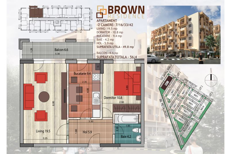 Apartamente 2 camere, 50 mp, Brown Residence Metalurgiei 2