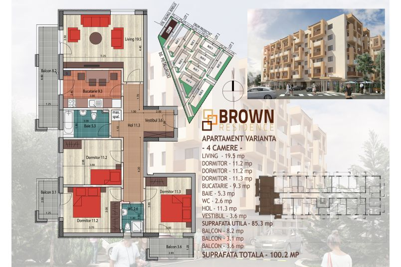 Apartamente 4 camere, 85 mp, Brown Residence Metalurgiei 2