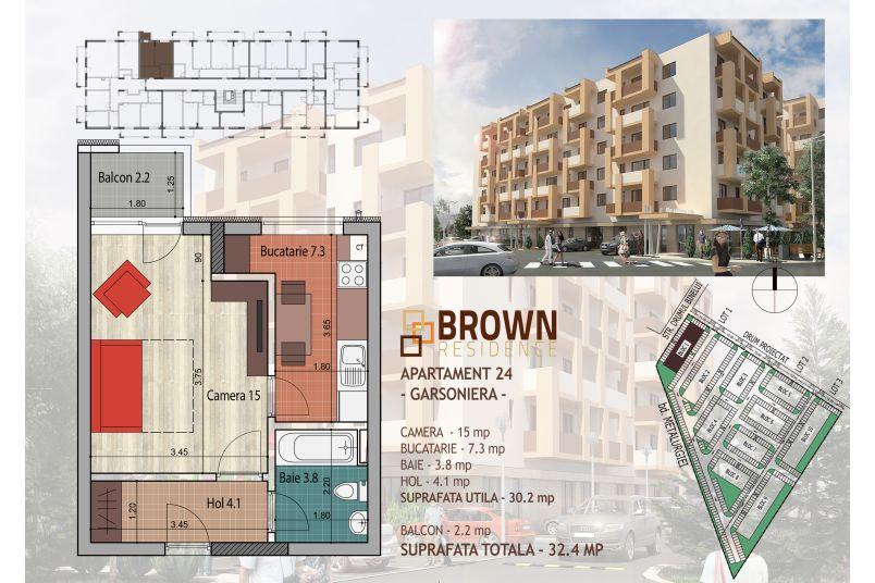 Garsoniere, 30 mp, Brown Residence Metalurgiei 2