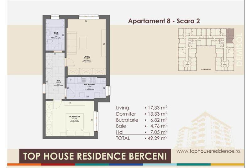Apartamente 2 camere, 49 mp, Top House Residence Berceni Metalurgiei