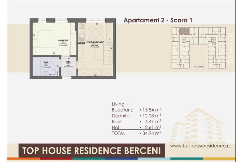 Apartamente 2 camere, 35 mp, Top House Residence Berceni Metalurgiei