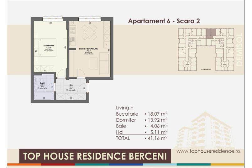 Apartamente 2 camere, 41 mp, Top House Residence Berceni Metalurgiei