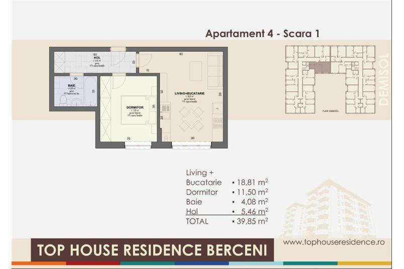 Apartamente 2 camere, 40 mp, Top House Residence Berceni Metalurgiei