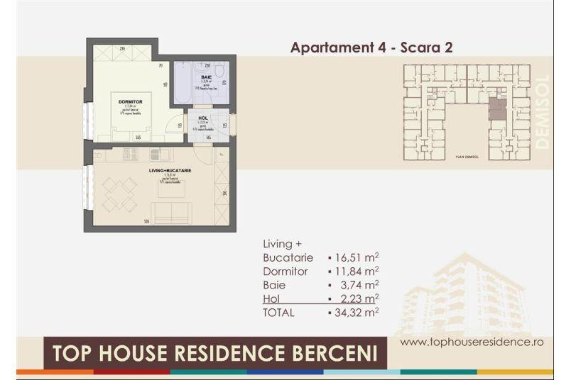 Apartamente 2 camere, 34 mp, Top House Residence Berceni Metalurgiei