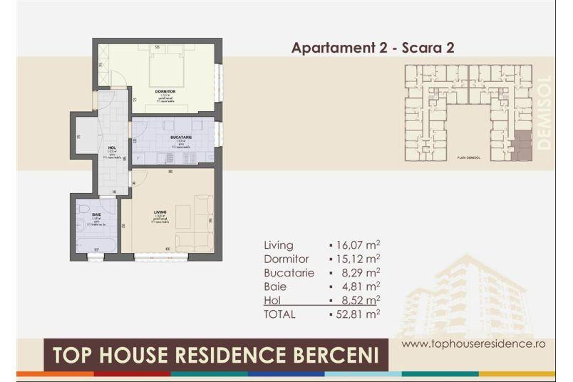 Apartamente 2 camere, 53 mp, Top House Residence Berceni Metalurgiei