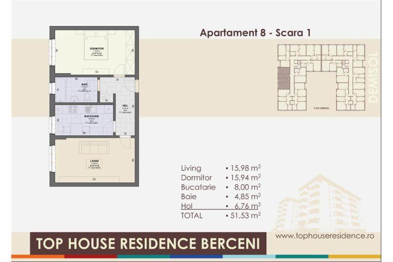 Apartamente 2 camere, 52 mp, Top House Residence Berceni Metalurgiei