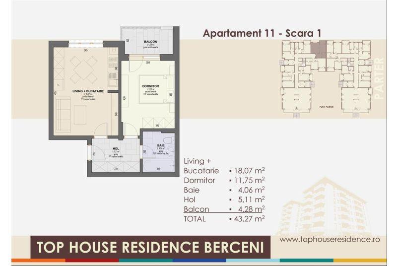Apartamente 2 camere, 43 mp, Top House Residence Berceni Metalurgiei