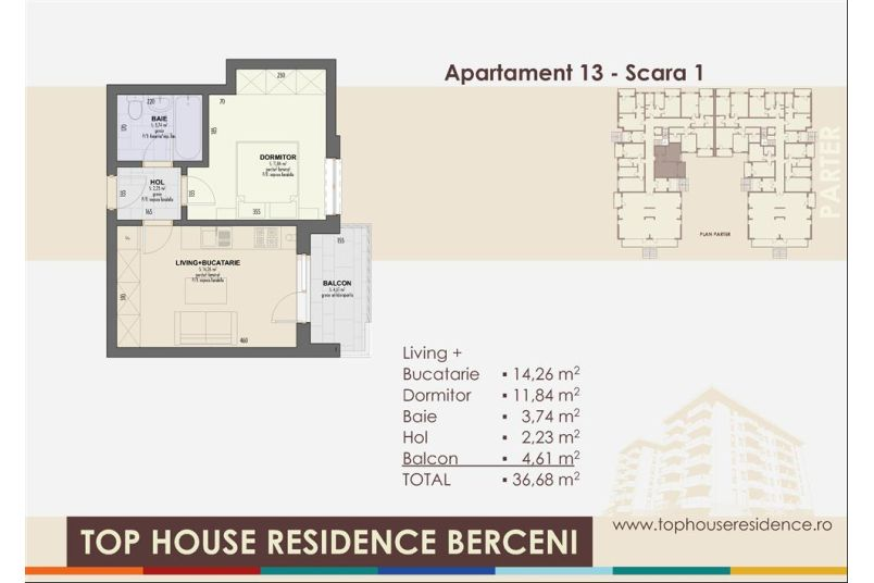Apartamente 2 camere, 37 mp, Top House Residence Berceni Metalurgiei