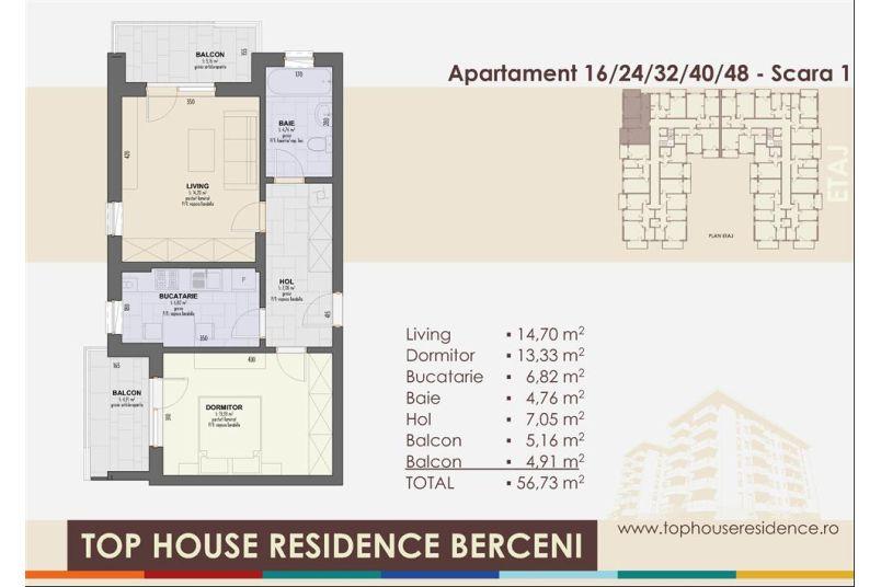 Apartamente 2 camere, 57 mp, Top House Residence Berceni Metalurgiei