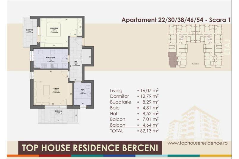 Apartamente 2 camere, 62 mp, Top House Residence Berceni Metalurgiei