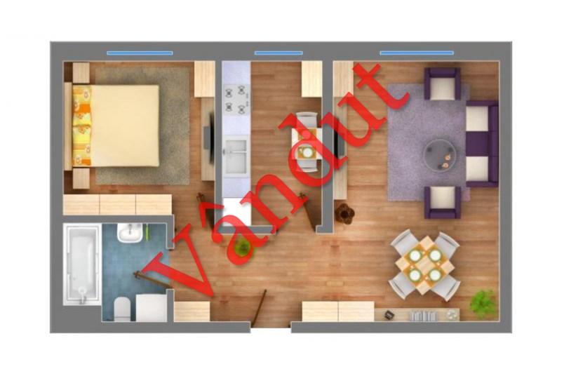 Apartamente 2 camere, 53 mp, Transparent Residence