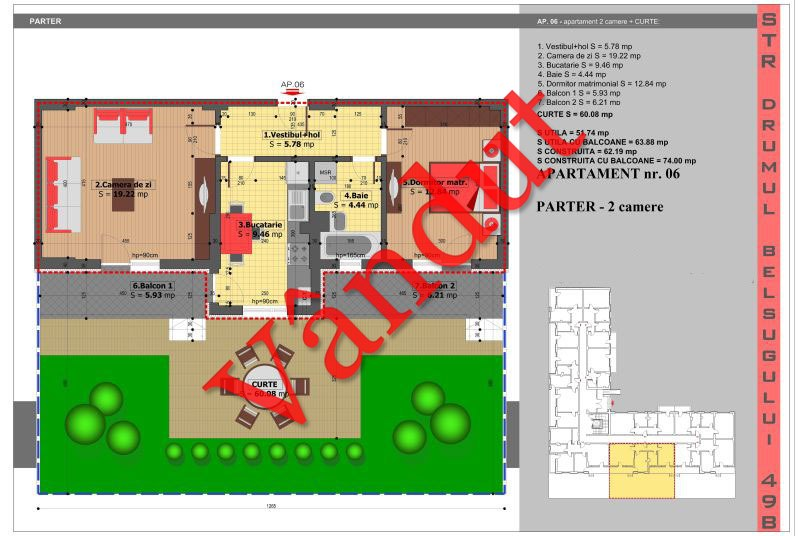 Apartamente 2 camere, 52 mp, Tip 2, Militari Belsugului Residence