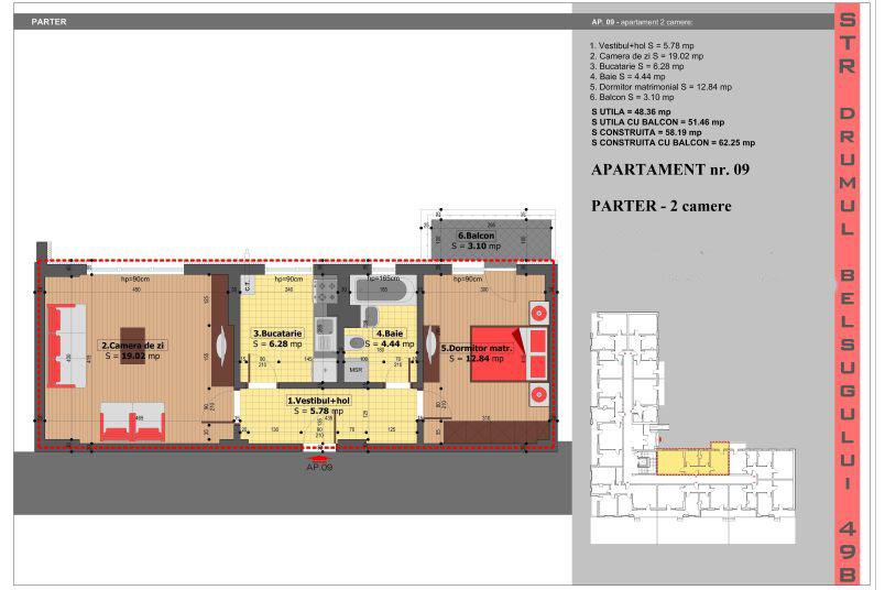 Apartamente 2 camere, 48 mp, Militari Belsugului Residence