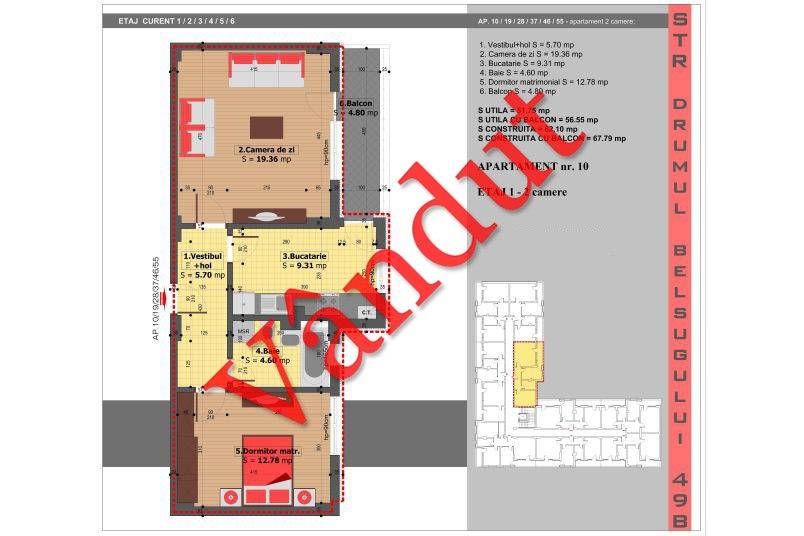 Apartamente 2 camere, 52 mp, Tip 4, Militari Belsugului Residence