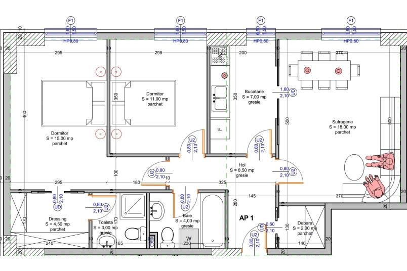Apartamente 3 camere, 70 mp, Vacaresti Delta View Residence