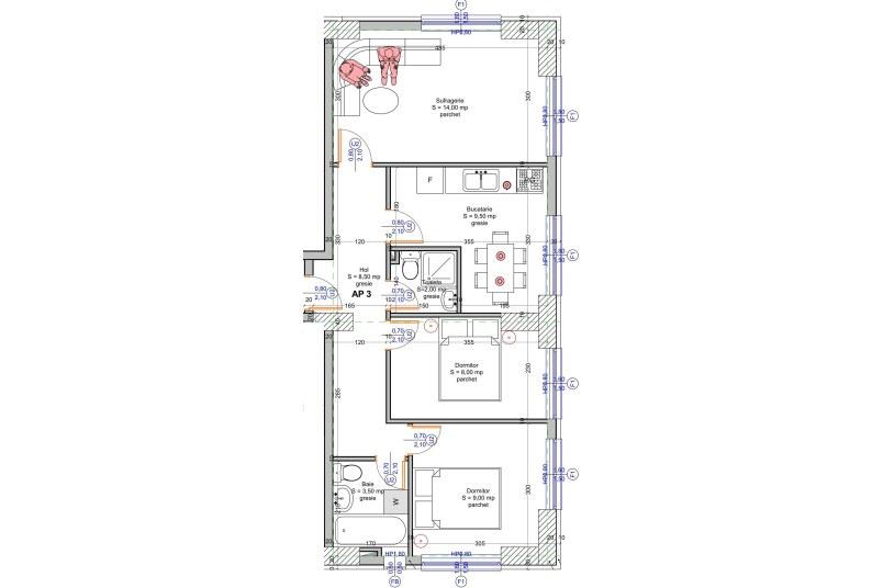 Apartamente 3 camere, 55 mp, Vacaresti Delta View Residence