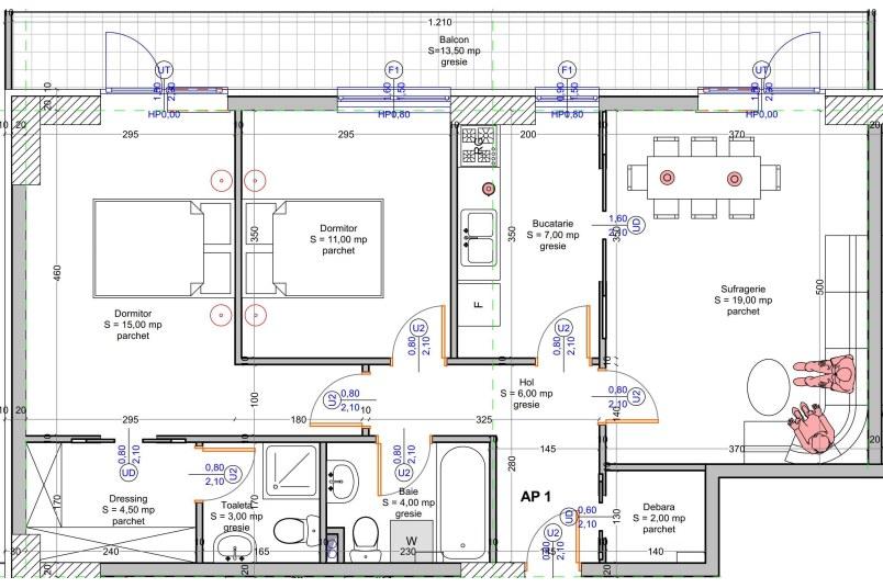 Apartamente 3 camere, 84 mp, Vacaresti Delta View Residence