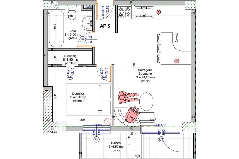 Apartamente 2 camere, 38 mp, Vacaresti Delta View Residence