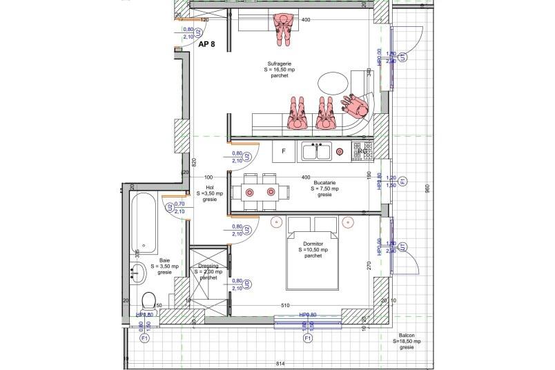 Apartamente 2 camere, 63 mp, Vacaresti Delta View Residence