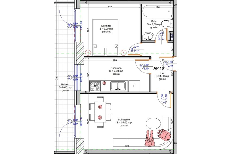 Apartamente 2 camere, 48 mp, Vacaresti Delta View Residence