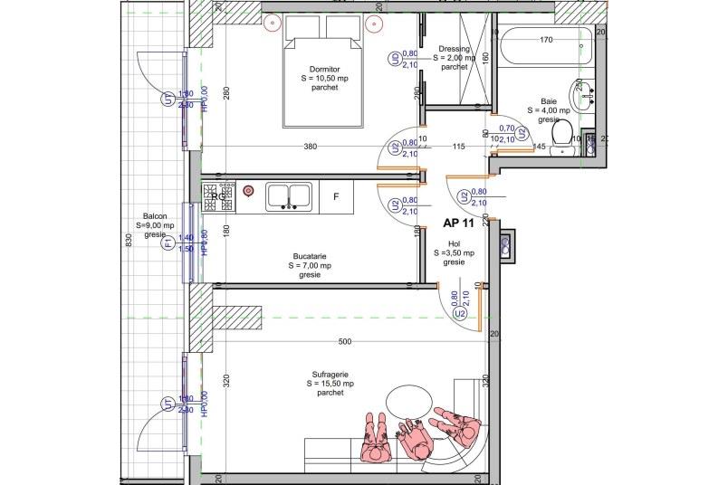 Apartamente 2 camere, 54 mp, Vacaresti Delta View Residence