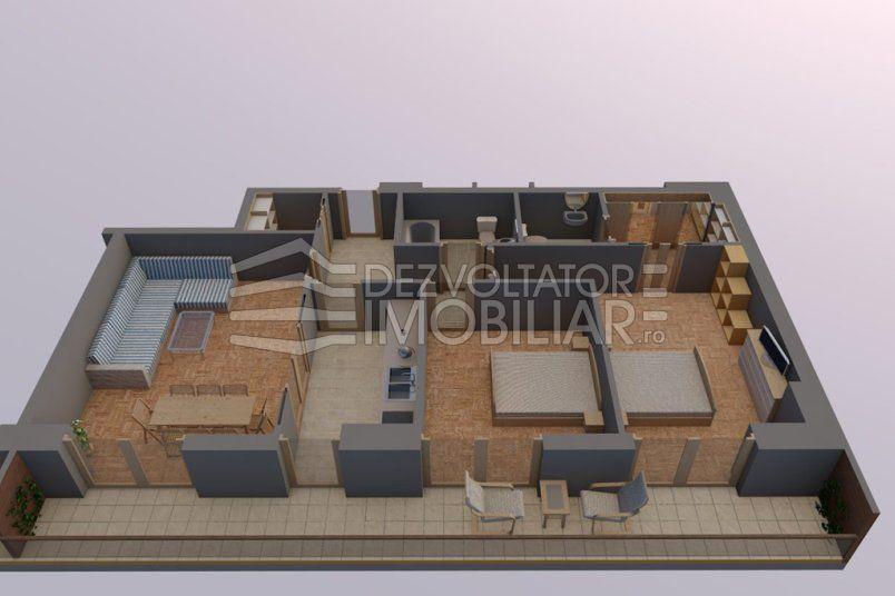 Apartamente 3 camere, 82 mp, Tip 2, Vacaresti Delta View Residence