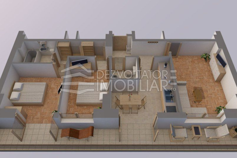 Apartamente 3 camere, 72 mp, Vacaresti Delta View Residence