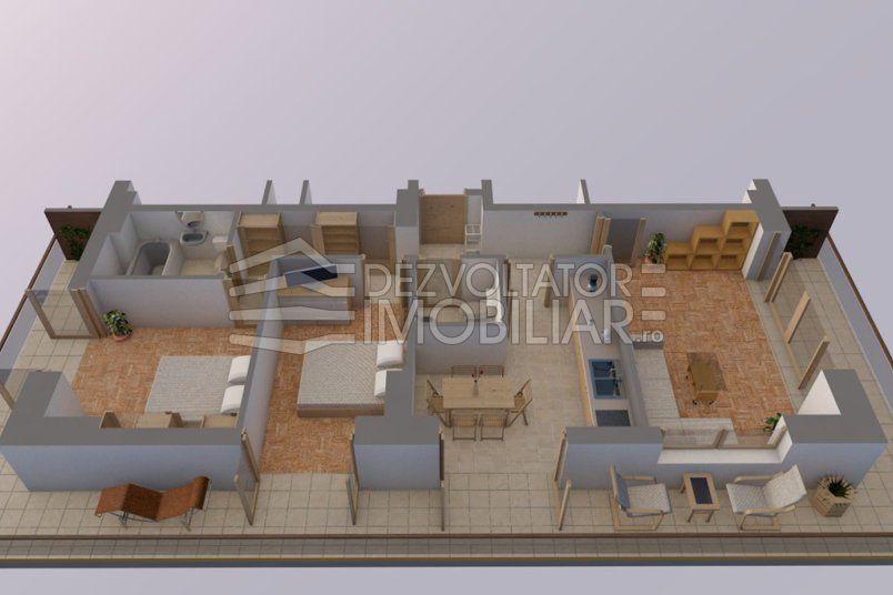 Apartamente 3 camere, 78 mp, Vacaresti Delta View Residence