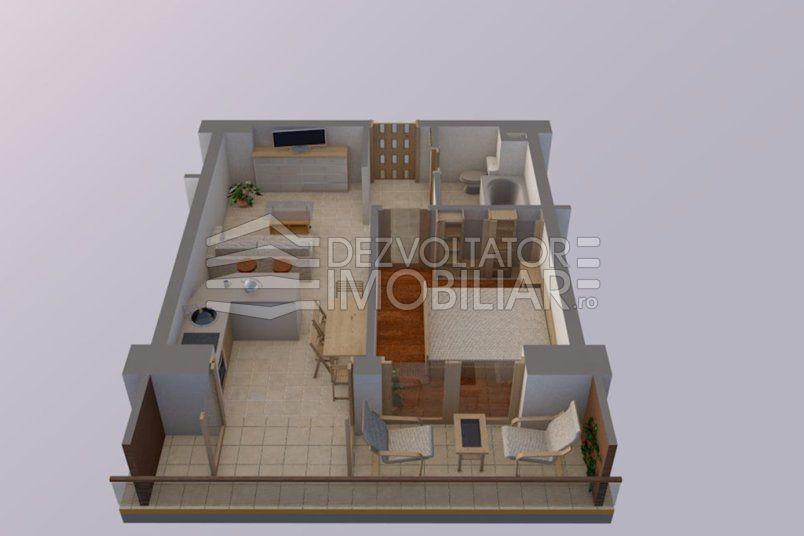 Apartamente 2 camere, 37 mp, Vacaresti Delta View Residence