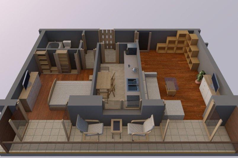 Apartamente 2 camere, 46 mp, Vacaresti Delta View Residence