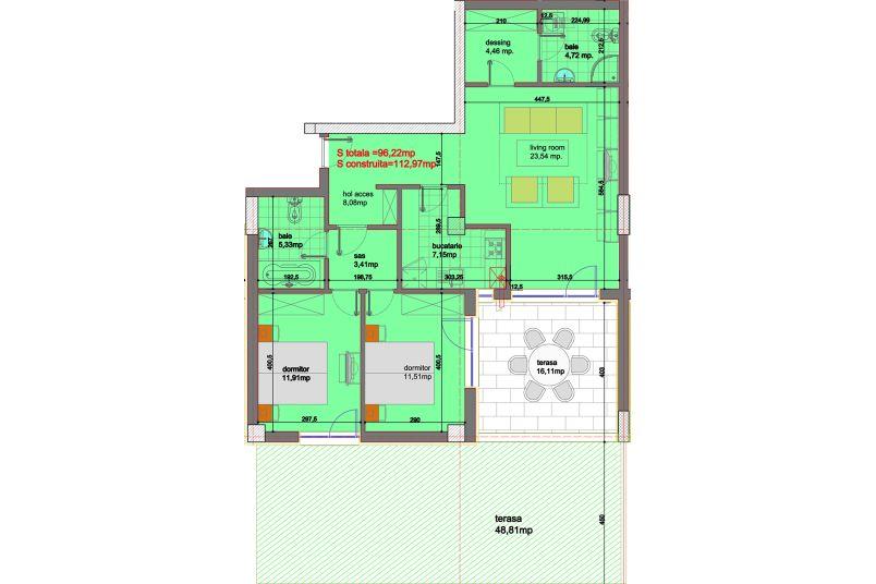 Apartamente 3 camere, 96 mp, Eliezer Residence