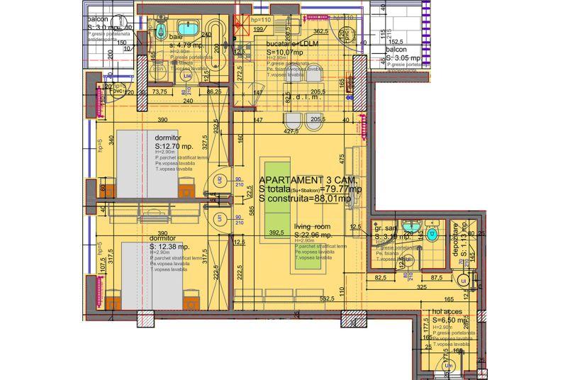 Apartamente 3 camere, 80 mp, Eliezer Residence