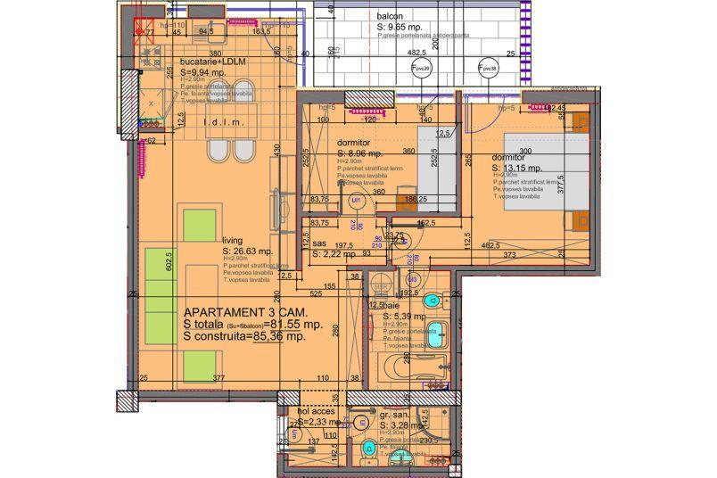 Apartamente 3 camere, 82 mp, Eliezer Residence