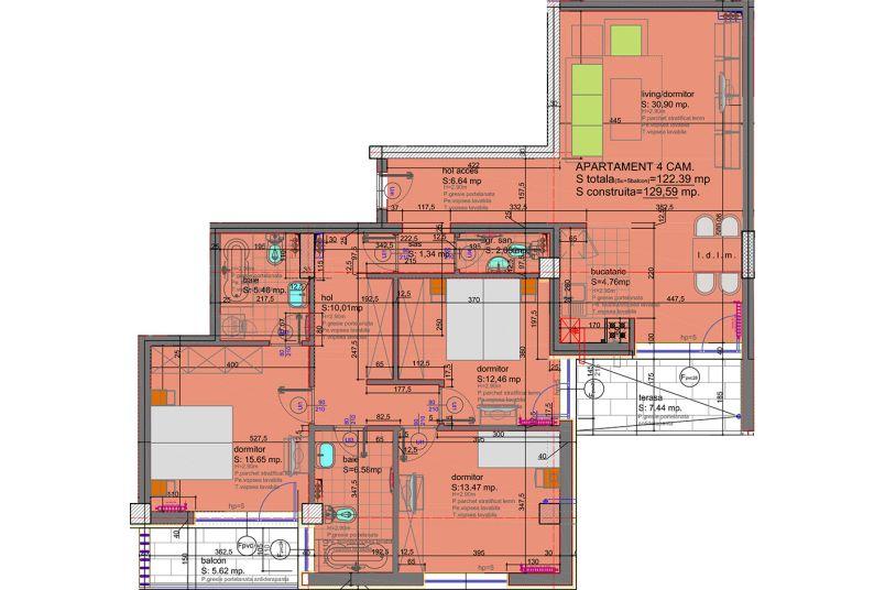Apartamente 4 camere, 122 mp, Eliezer Residence