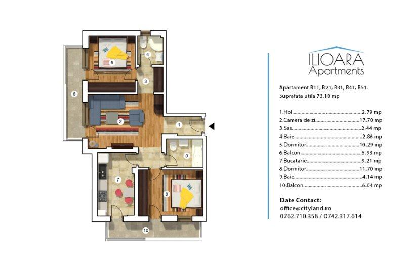 Apartamente 3 camere, Ilioara Apartments
