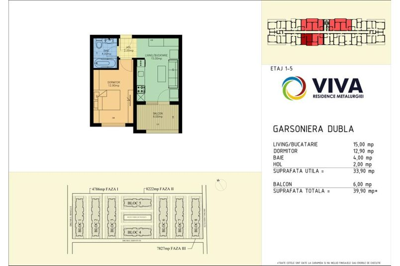 Apartamente 2 camere, 34 mp, Viva Residence Metalurgiei