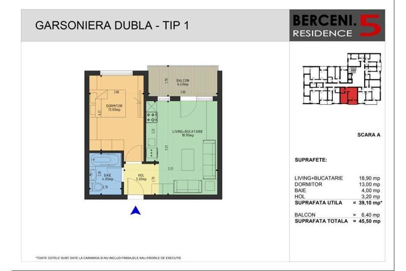 Apartamente 2 camere, 39 mp, Berceni 5 Residence