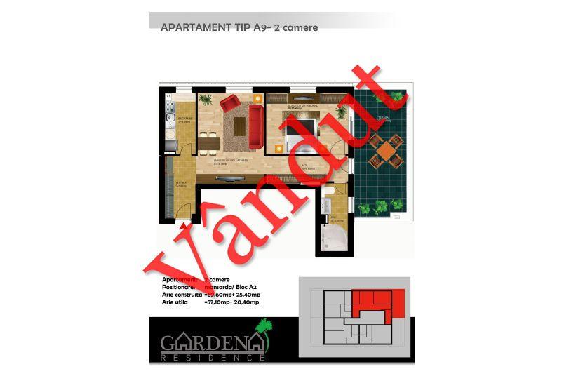 Apartamente 2 camere, Tip A 9, Gardena Residence